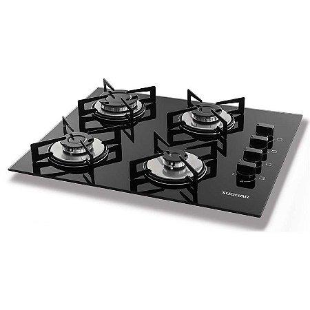 Cook Top Vidro 4 Queimadores Bivolt - Suggar