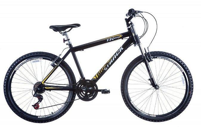 Bicicleta TK600 Aro 26 Alumínio Suspensão Dianteira Aero 21 Marchas Preto - Track & Bikes
