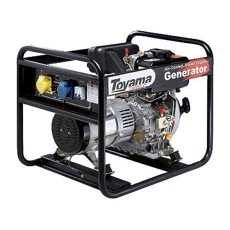 Grupo Gerador Diesel Monofásico TD4000CS - Toyama