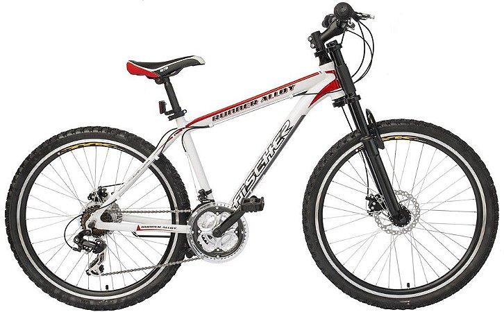 Bicicleta Fischer Runner Alloy Aro 26 Full Branca 21 Velocidades