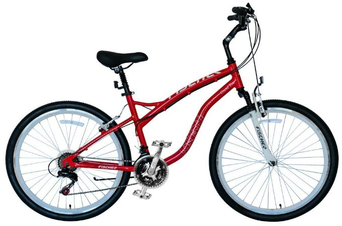 Bicicleta Fischer Grand Tour Aro 26 Unissex V-Brake Vermelha