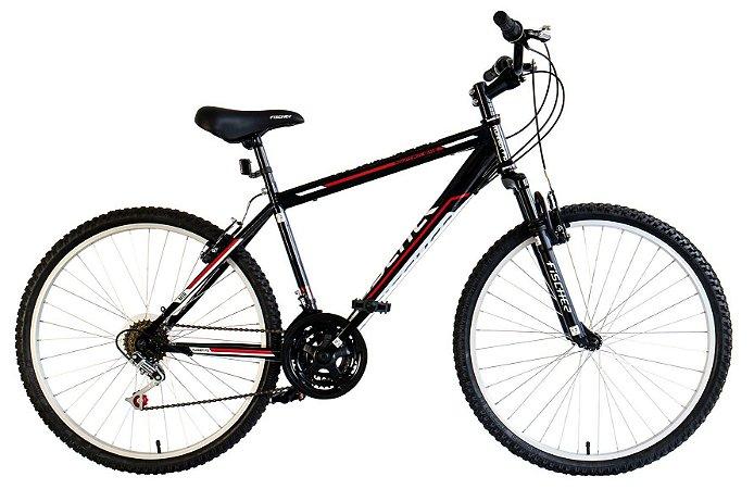 Bicicleta Fischer Runner F10 Aro 26 MTB V-Brake Preta
