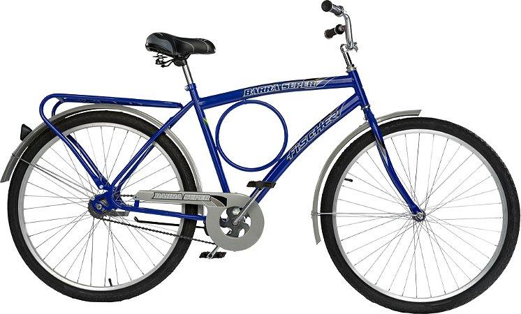 Bicicleta Fischer Barra Super New Aro 26 Masculina Freio Contra Pedal Azul