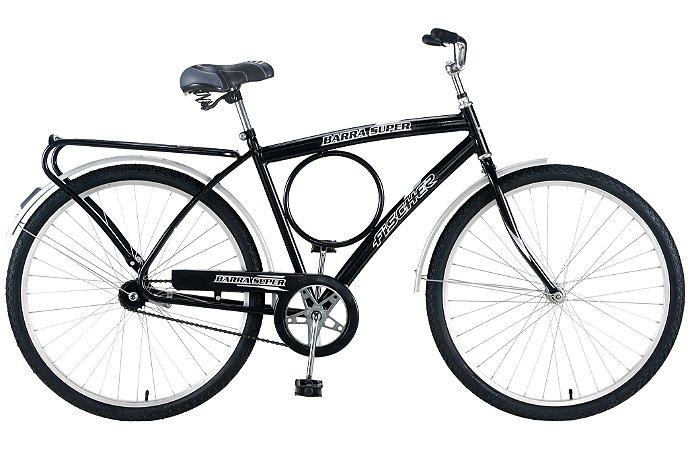 Bicicleta Fischer Barra Super New Aro 26 Masculina Freio Contra Pedal Preto