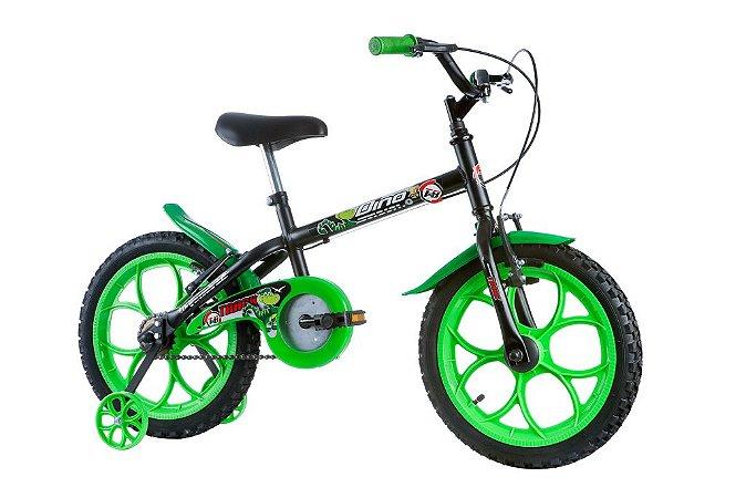 Bicicleta Dino Aro 16 Preto/Verde - Track & Bikes