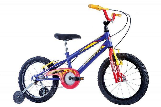 Bicicleta Track Boy Aro 16 Azul Fosco - Track & Bikes