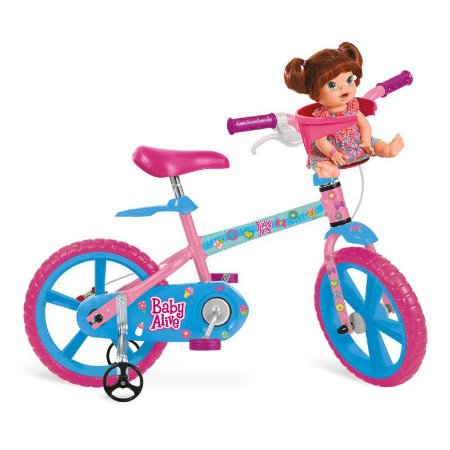 """Bicicleta 14"""" Baby Alive - Bandeirante"""