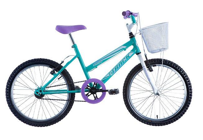 "Bicicleta Infanto Juvenil Aro 20"" Cindy Azul/Branco - Track & Bikes"
