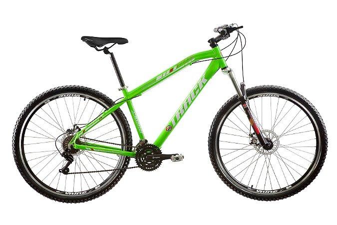 "Bicicleta TK 29 Aro 29"" Disk Break 21 Velocidades Alumínio Verde - Track & Bikes"