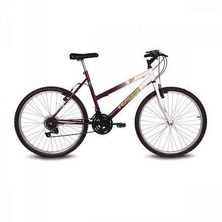 Bicicleta Aro 26 Live Violeta/Branco 18 velocidades - Verden Bikes