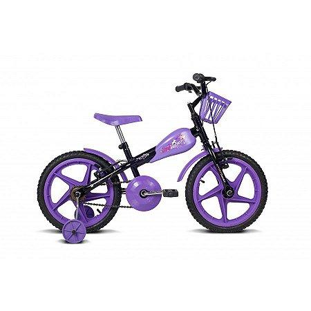 Bicicleta Infantil Aro 16 VR 600 Preto/Lílas - Verden Bikes