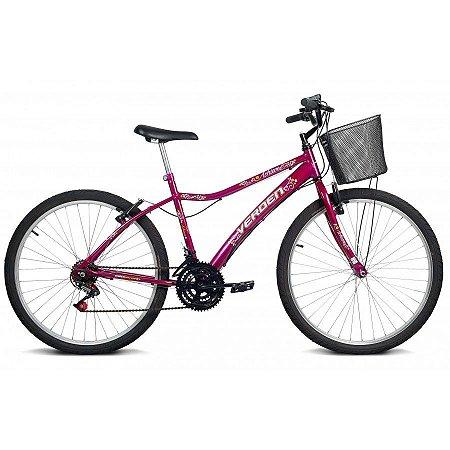 Bicicleta Aro 26 Achieve Rosa 18 velocidades - Verden Bikes