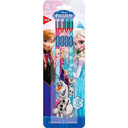 Lápis Preto Disney Frozen Tris 4 Un