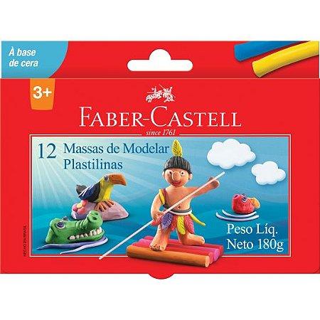 Massa De Modelar Faber-castell À Base De Cera 12 Cores