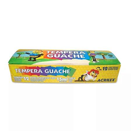 Tempera Guache Acrilex Abelhinhas 12 Cores 15ml