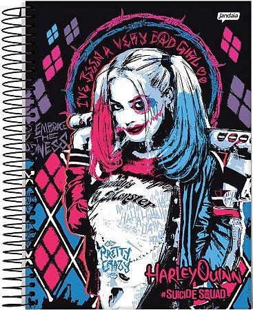 Caderno Universitário Esquadrão Suicida Harley Quinn Bad Girl 10 Matérias 200 Folhas