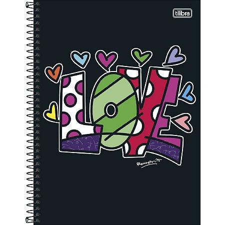 Caderno Universitário Tilibra Romero Britto Love 10 matérias 200 Folhas
