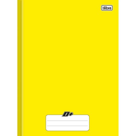 Caderno Brochura Capa Dura Tilibra D+ Amarelo 96 Folhas