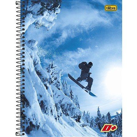 Caderno Universitário Tilibra Mais+ Snowboard 1x1 96 Folhas