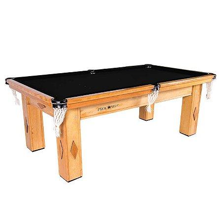 Mesa de Snooker Cerejeira com Pedra Ardósia Tecido Preto - Procópio