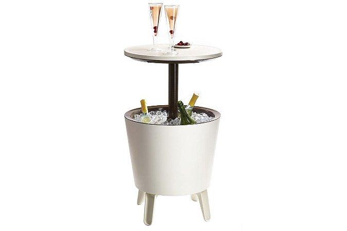 Mesa Cool Bar com Cooler de 30 Litros Keter Branca