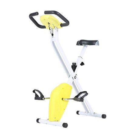 Bicicleta Ergométrica Dobrável Konnen Fitness X-Bike Amarelo/Branco