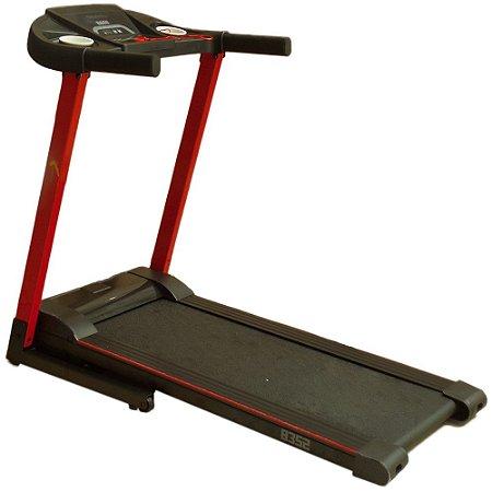Esteira Elétrica Dobrável Residencial Konnen Fitness 8352B 1.5HP Vermelho/Preto 110V