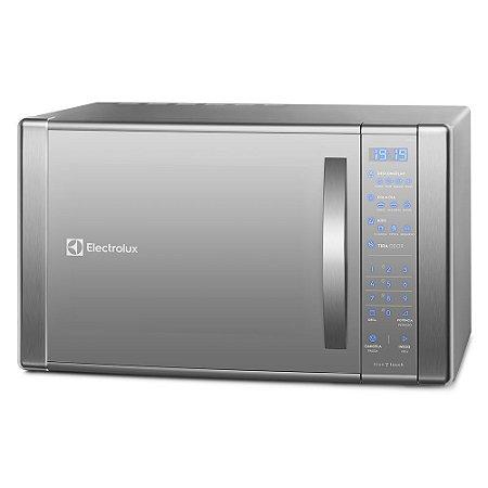 Micro-Ondas Electrolux ME41X c/ Painel Touch On Glass e Função Grill Inox