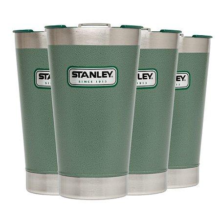Conjunto 4 Copos Térmicos de Cerveja com Tampa Stanley 473ml Verde