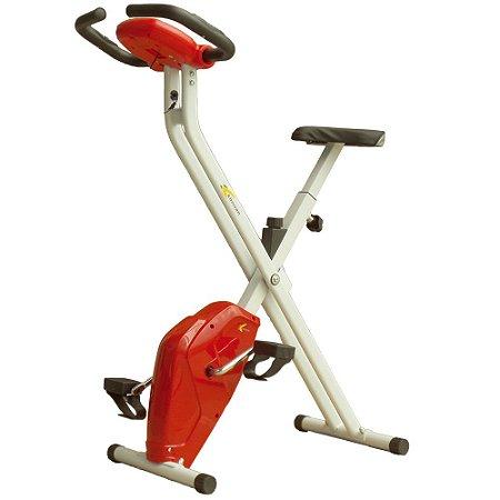 Bicicleta Ergométrica Dobrável X-Bike Vermelho/Branco - Konnen Fitness