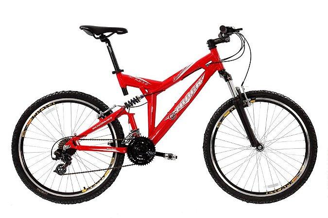 Bicicleta Aro 26 Aluminio Full Susp 21 Marchas Vermelha - Track & Bikes