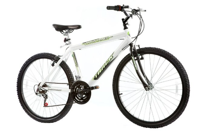 Bicicleta Aro 26  MTB Alum Mountainer 18 Marchas Branca - Track & Bikes
