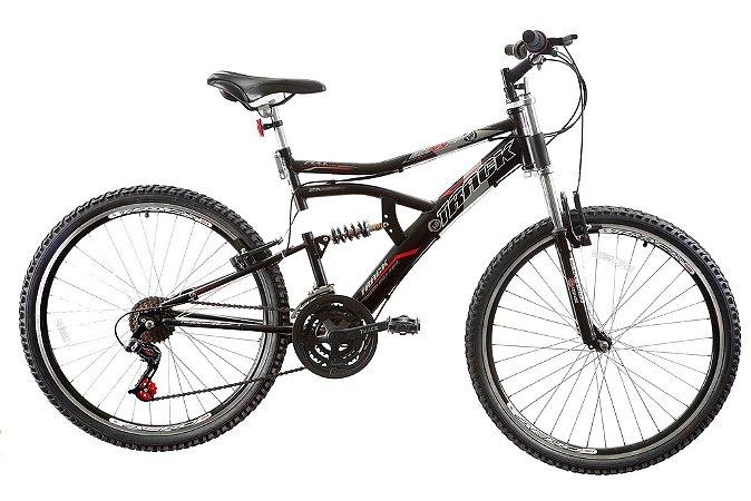 Bicicleta Boxxer Aro 26 Aero Full Susp 21V Preto Fosco - Track & Bikes