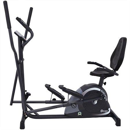 Elíptico e Bicicleta Ergométrica Horizontal Mag 5000 D - Dream Fitness