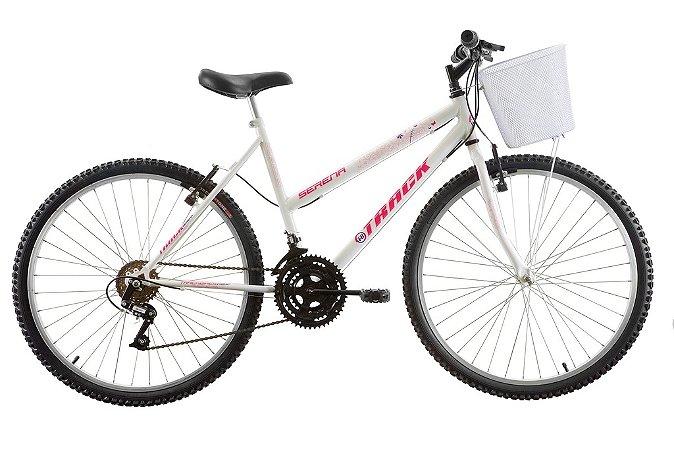 "Bicicleta Serena Aro 26"" 18 Marchas Branca - Track & Bikes"