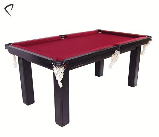 Mesa de Snooker Residencial 1,87x1,08cm Tecido Vinho - Procópio