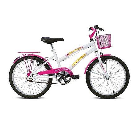 Bicicleta Aro 20 Breeze Branco/Rosa - Verden