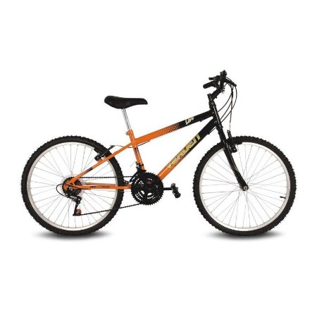 Bicicleta Aro 24 Live Laranja/Preto 18 velocidades - Verden