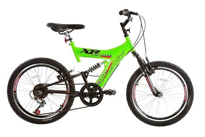 Bicicleta Aro 20 Dupla Suspensão 6v XR 20 Full Verde/Preto - Track & Bikes
