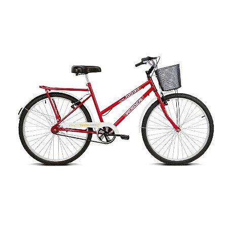 Bicicleta Aro 26 Jolie Vermelho com Cesta - Verden Bikes