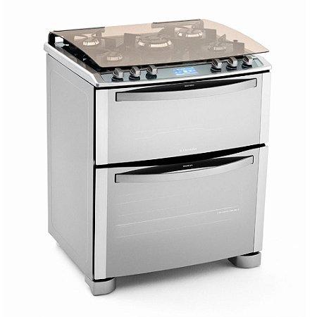 Fogão I-Kitchen de piso 5 bocas Forno Duplo 76DIX Inox - Electrolux