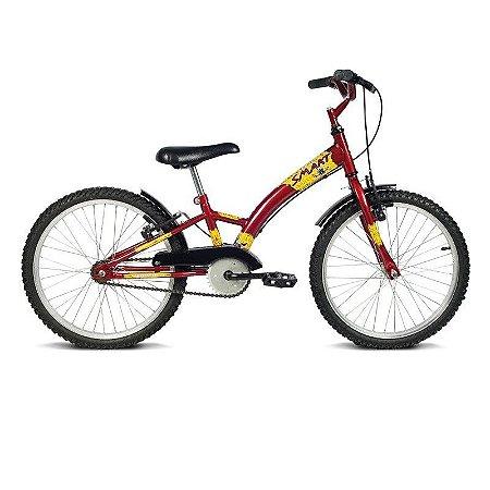 Bicicleta Aro 20 Smart Vermelha  - Verden