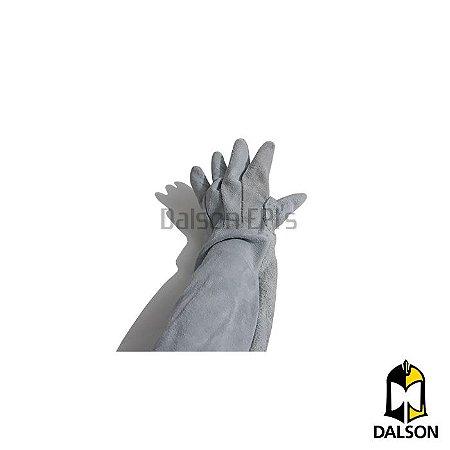 Luva de raspa com punho de 20cm