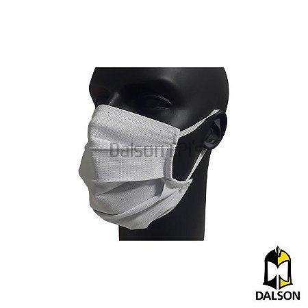 Máscara em algodão branco - Pacote com 10 unidades