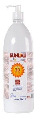 Protetor solar Sunlau com repelente FPS 30 Uva e Uvb 1 litro