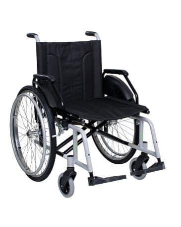 Cadeira de Rodas 505 em Aço Carbono Acolchoada (Peso Max.120Kg)