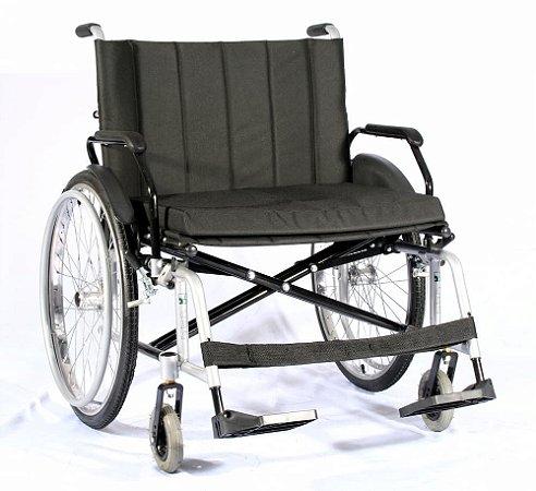 Cadeira de Rodas MAX OBESO em Aço Carbono (Peso Max.120Kg)