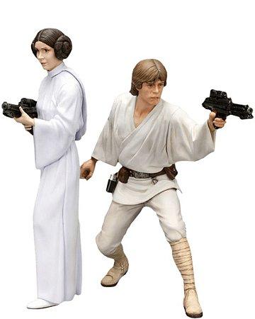 Star Wars Luke Skywalker & Princess Leia - ArtFX+ Statue