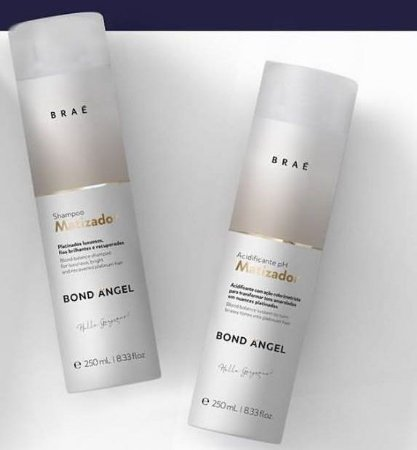 Kit Matizador Bond Angel Shampoo e Mascara 250ml Braé