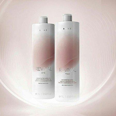 Kit Revival Tratamento Alto Impacto Braé Hair Care 2x1000ml